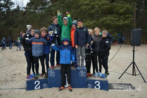 Podium Jongens Junioren D1 Ploegen