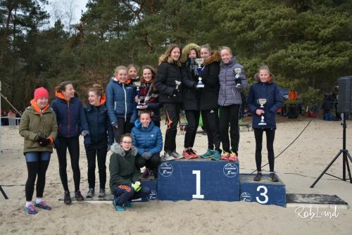 Podium Meisjes Junioren C Ploegen