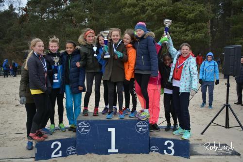 Podium Meisjes Junioren D1 Ploegen