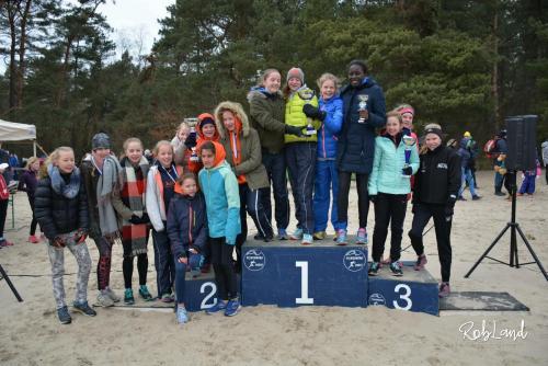 Podium Meisjes Junioren D2 Ploegen